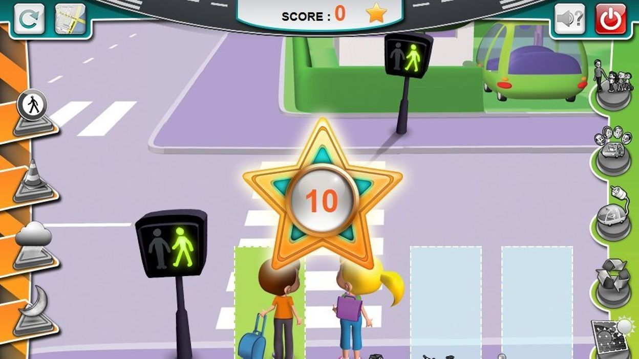 un jeu en ligne sensibilise les enfants la s curit routi re. Black Bedroom Furniture Sets. Home Design Ideas