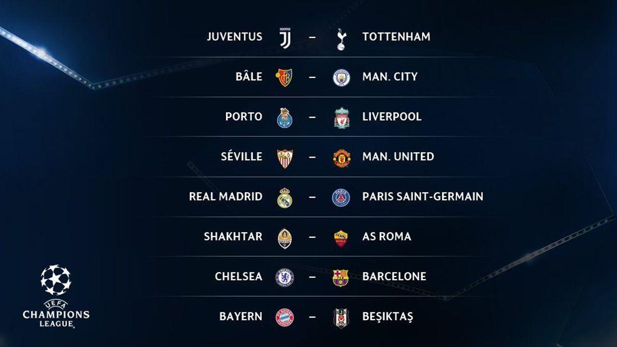 Calendrier Ligue De Champion.Real Madrid Psg Et Chelsea Fc Barcelone Chocs Des