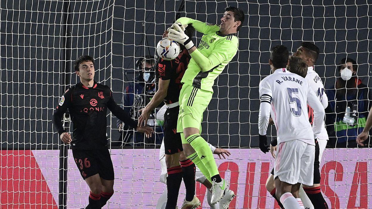 Le Real Madrid de Courtois sauve un point face à la Real Sociedad grâce à Vinicius - RTBF