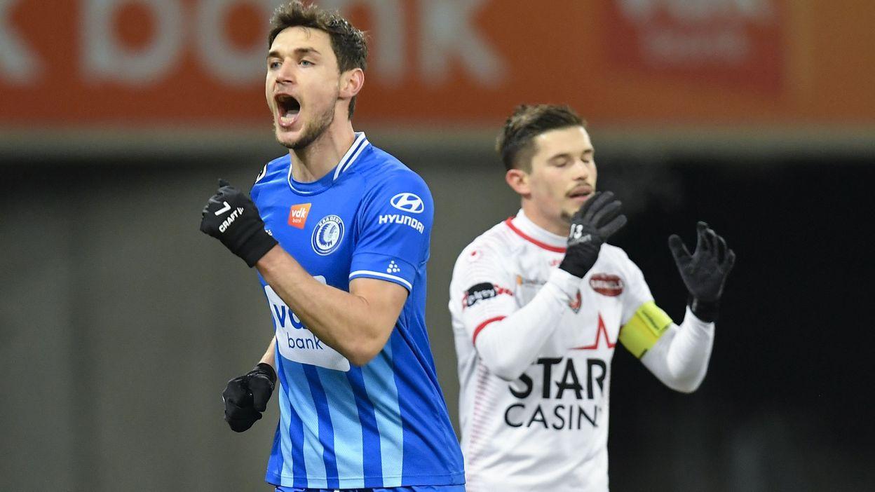 Pro League : Mouscron prend une gifle à Gand, triplé de Yaremchuk - RTBF
