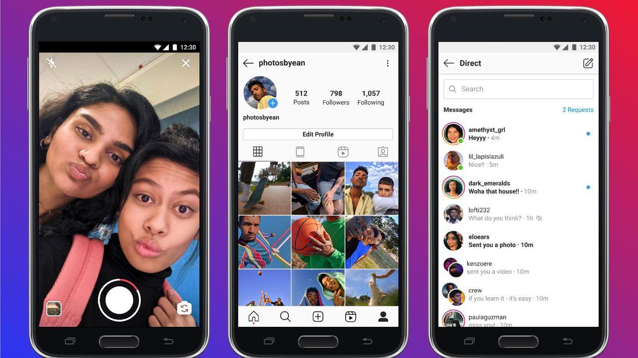 Instagram Lite, la version allégée d'Instagram, débarque dans le monde entier - RTBF