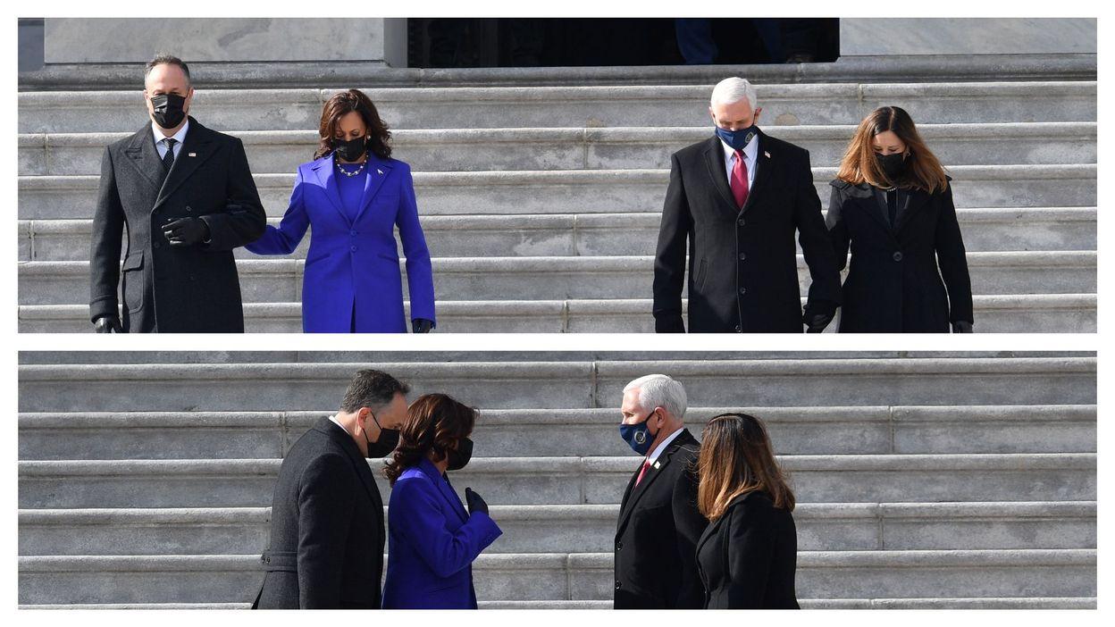 Investiture de Joe Biden : Kamala Harris prend la peine de raccompagner son prédécesseur Mike Pence