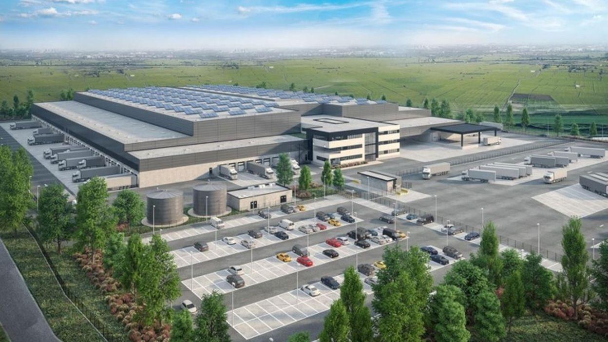REGIONS La Louvière : la première pierre de la future plateforme logistique Lidl a été posée - RTBF