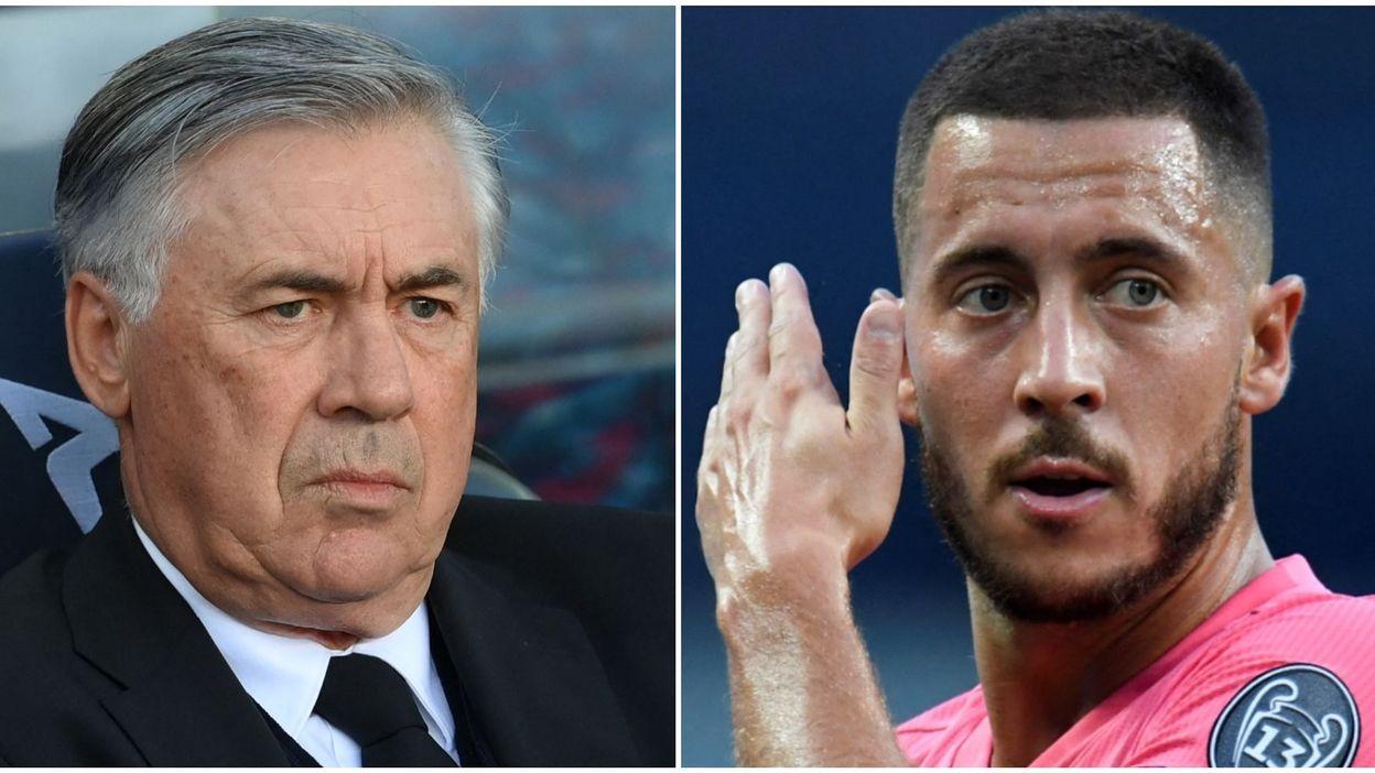 """Real Madrid : Ancelotti sur Hazard : """"Il a un entraîneur qui préfère d'autres joueurs"""""""