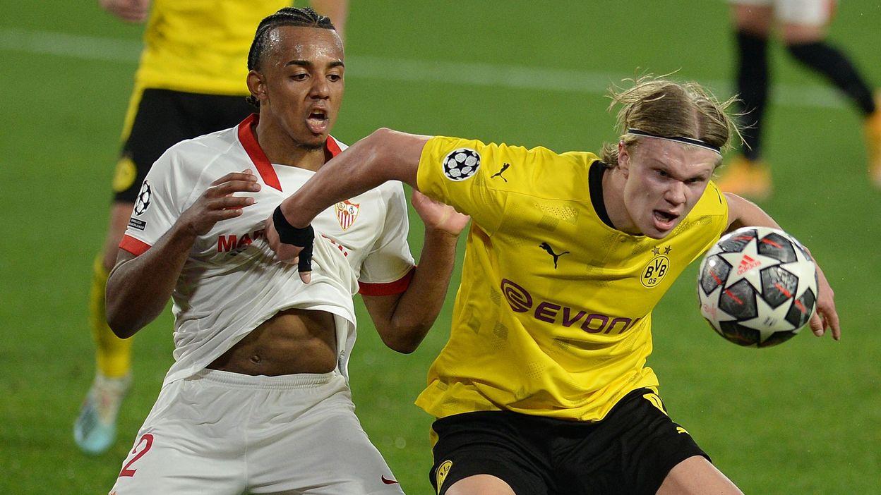 Dortmund gagne à Séville, Haaland bat un nouveau record de précocité, Meunier monte pour la forme - RTBF