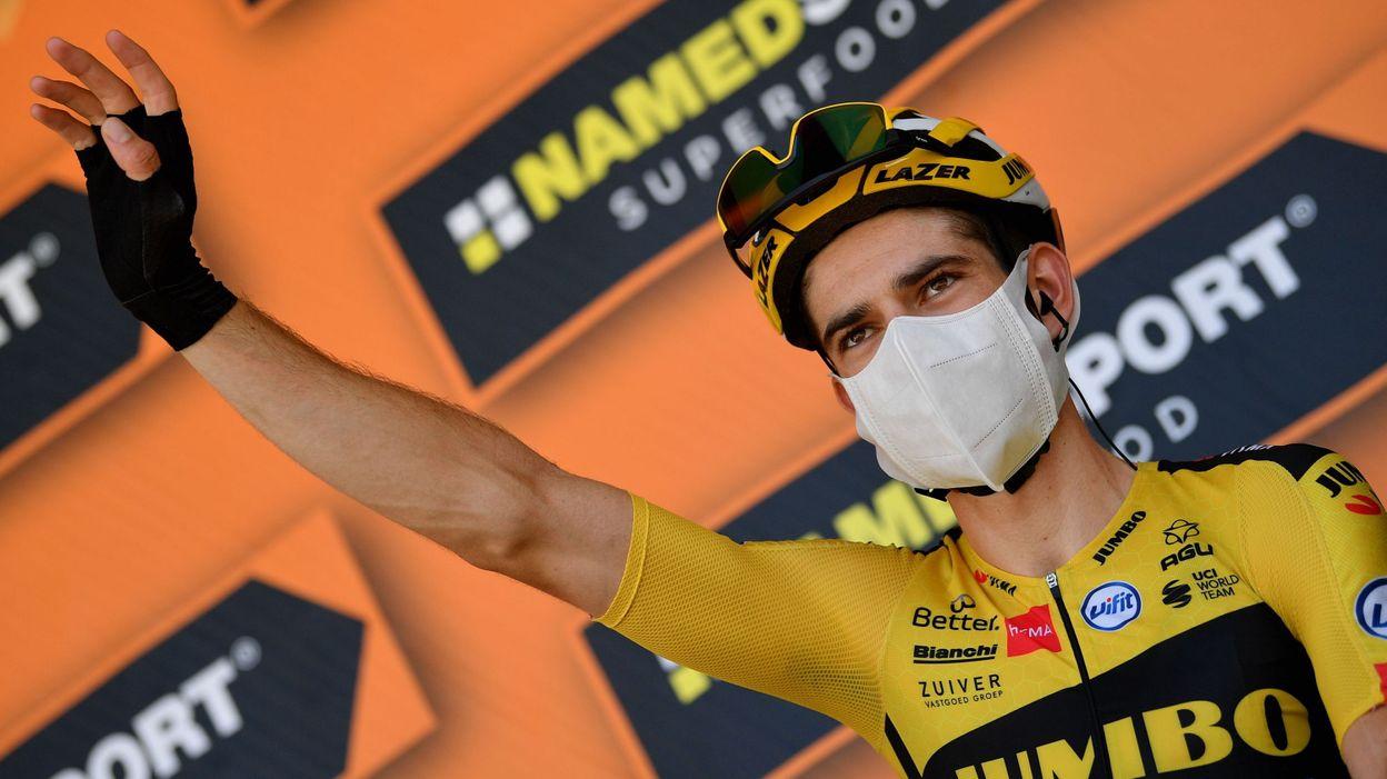 Tirreno-Adriatico : Sprint en surclassement, victoire et maillot de leader pour Wout van Aert - RTBF