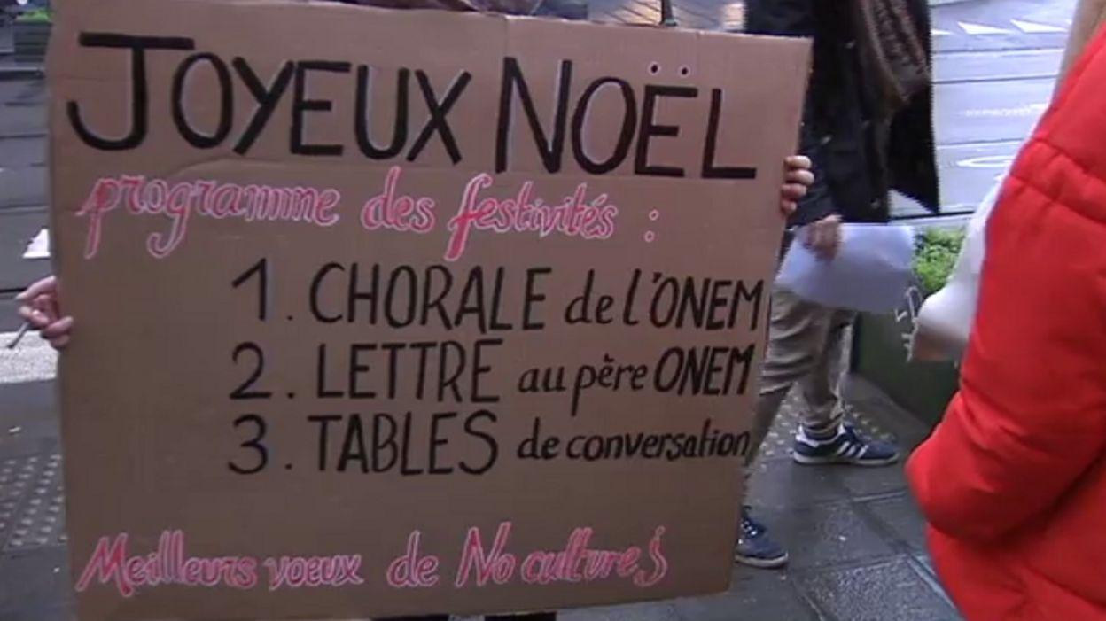 Des artistes organisent une action à l onem pour dénoncer la
