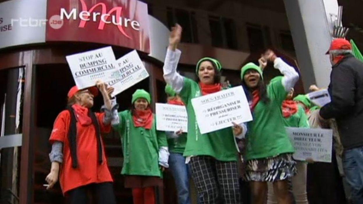 Bruxelles les femmes de chambre de l 39 h tel mercure dans la rue - Job etudiant femme de chambre bruxelles ...