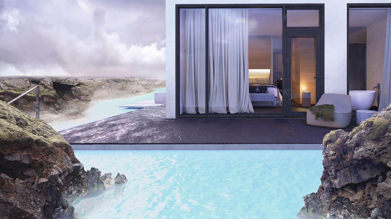 islande un h tel de luxe va ouvrir en face du blue lagoon. Black Bedroom Furniture Sets. Home Design Ideas