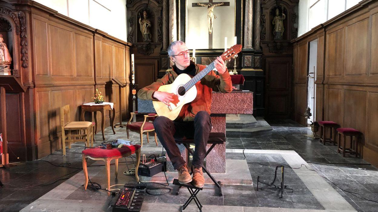 Le guitariste Quentin Dujardin ne payera pas une amende de 4000 euros pour son concert illégal dans l'église de Crupet - RTBF