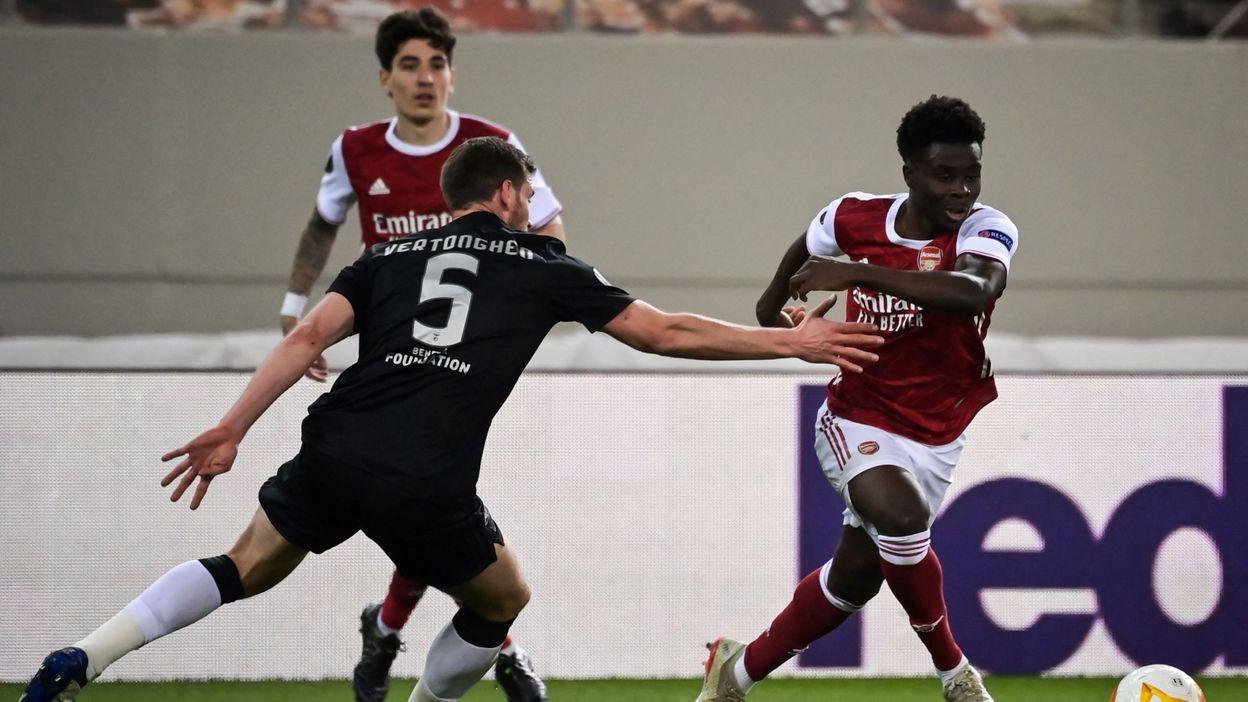 Europa League : Dries Mertens éliminé pour son retour, qualification d'Arsenal face à Jan Vertonghen - RTBF