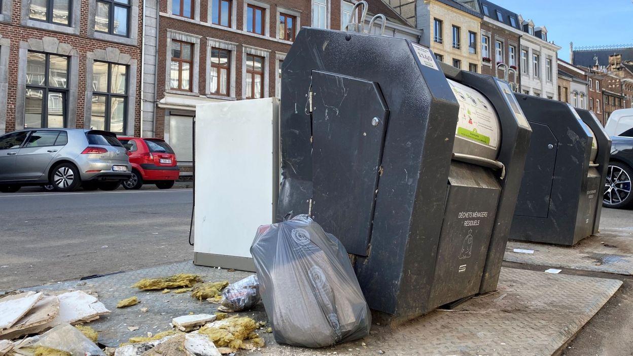 Onze conteneurs à puce cassés à Verviers : les dépôts d'ordures sauvages se multiplient