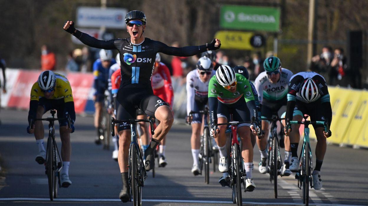 Paris-Nice : Cees Bol décroche la 2e étape au sprint à Amilly, Matthews prend le jaune - RTBF