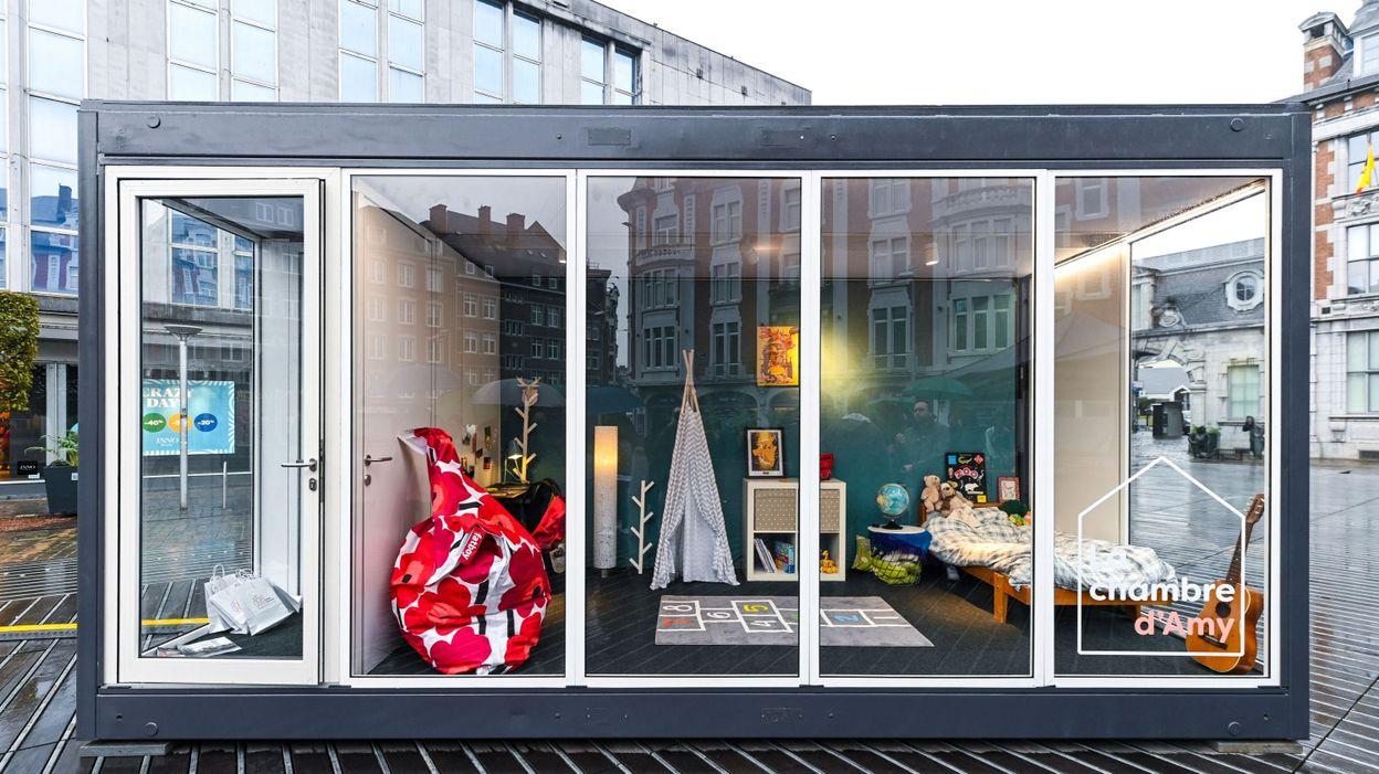 Namur : une chambre d'ami fictive pour conscientiser de potentielles familles d'accueil