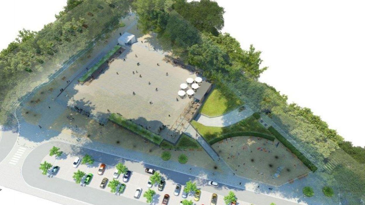Outremeuse bient t un parc et une terrasse ciel ouvert for Piscine d outremeuse