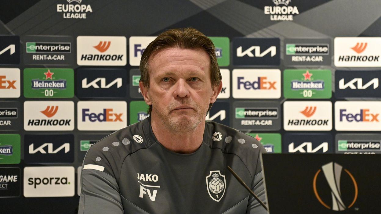 Europa League : Franky Vercauteren déçu après la défaite de l'Antwerp face aux Rangers :