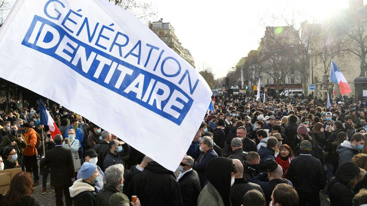 France : Dries Van Langenhove s'est rendu à Paris pour une manifestation du groupe de Génération identitaire - RTBF