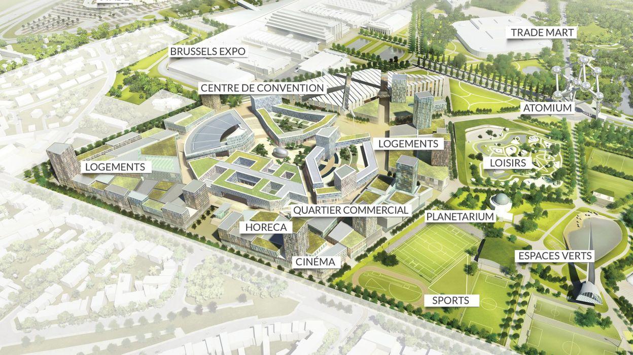 Heysel trois noms pour imaginer le centre de congr s for Site pour plan a trois