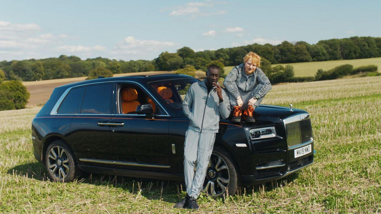 Ed Sheeran and Stormzy Lean on a Rolls Royce Cullinan in