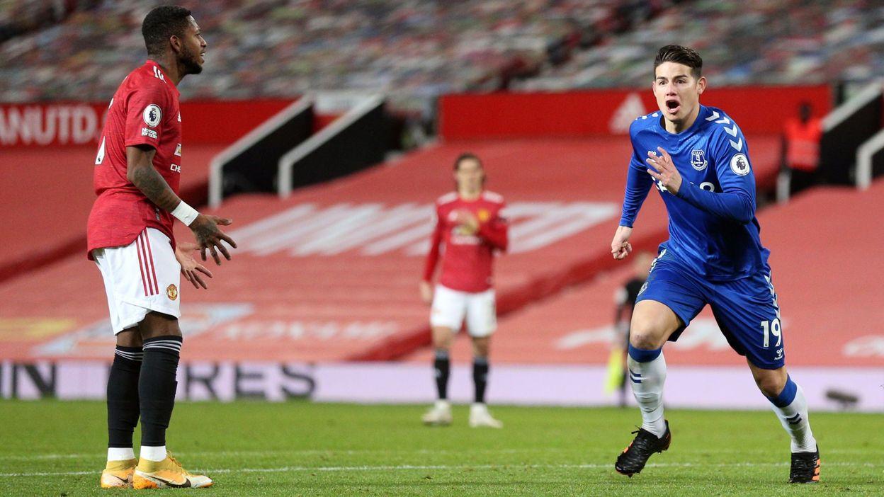 Everton arrache un point à Manchester United à la 96e minute, bijou de Bruno Fernandes - RTBF