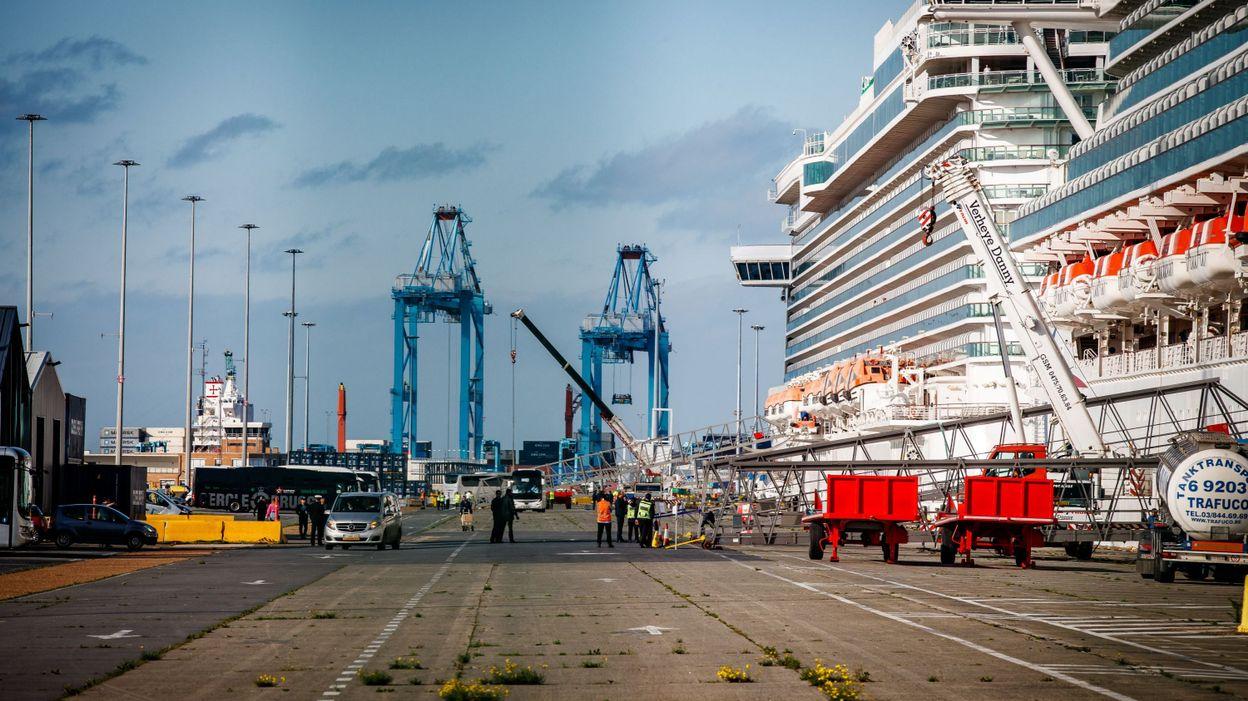 Coronavirus: les passagers du navire de croisière à quai à Zeebrugge autorisés à débarquer