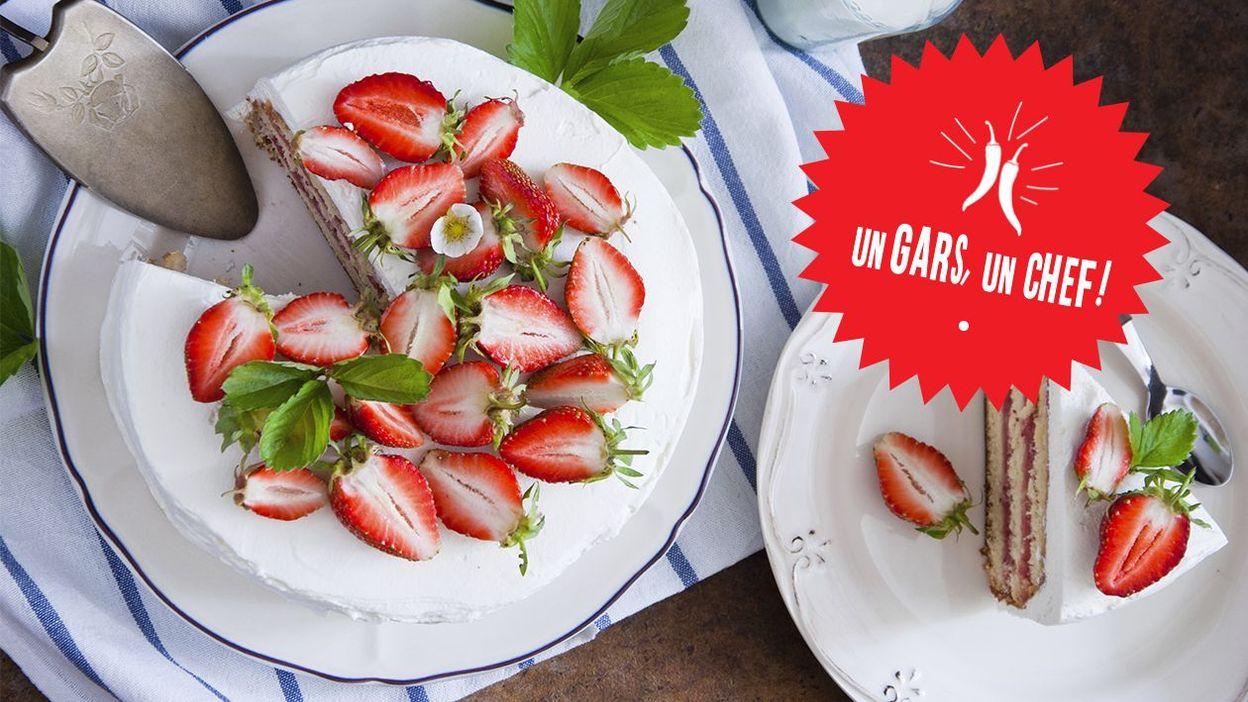 Recette le fraisier menthe d 39 un gars un chef for Decoration d un fraisier