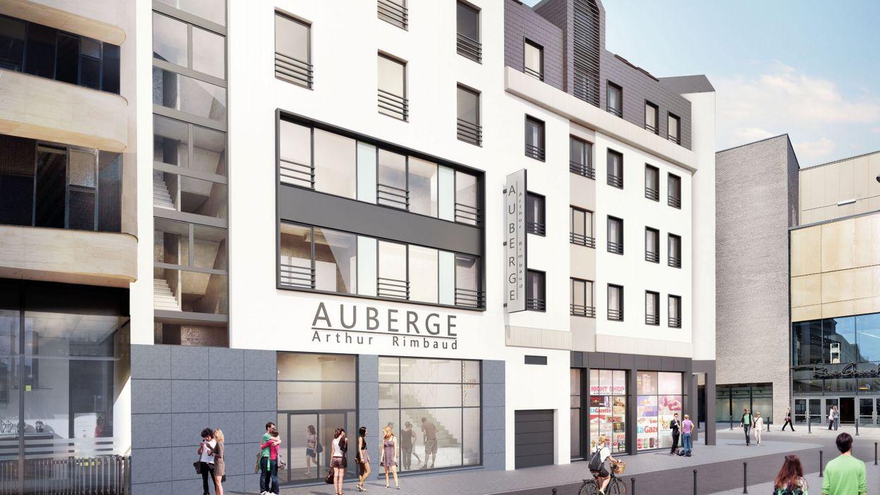 Charleroi la future auberge de jeunesse ouvrira ses for Auberge de jeunesse la maison paris