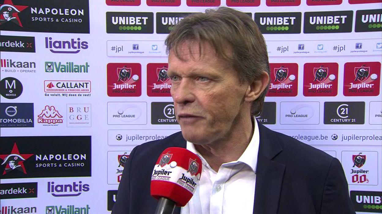 """Vercauteren rend hommage à Rensenbrink et accable son équipe : """"notre plus mauvaise 1er mi-temps"""""""