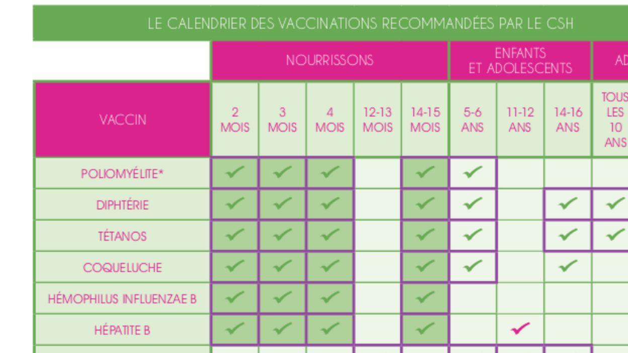 Nouveau Calendrier Vaccinal 2019.Vaccins Le Programme De Vaccination Belge Des Bebes