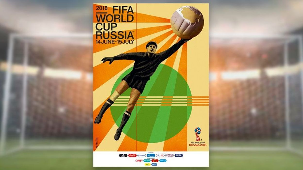 Le mythique gardien russe Lev Yachine sur l'affiche officielle du Mondial 2018