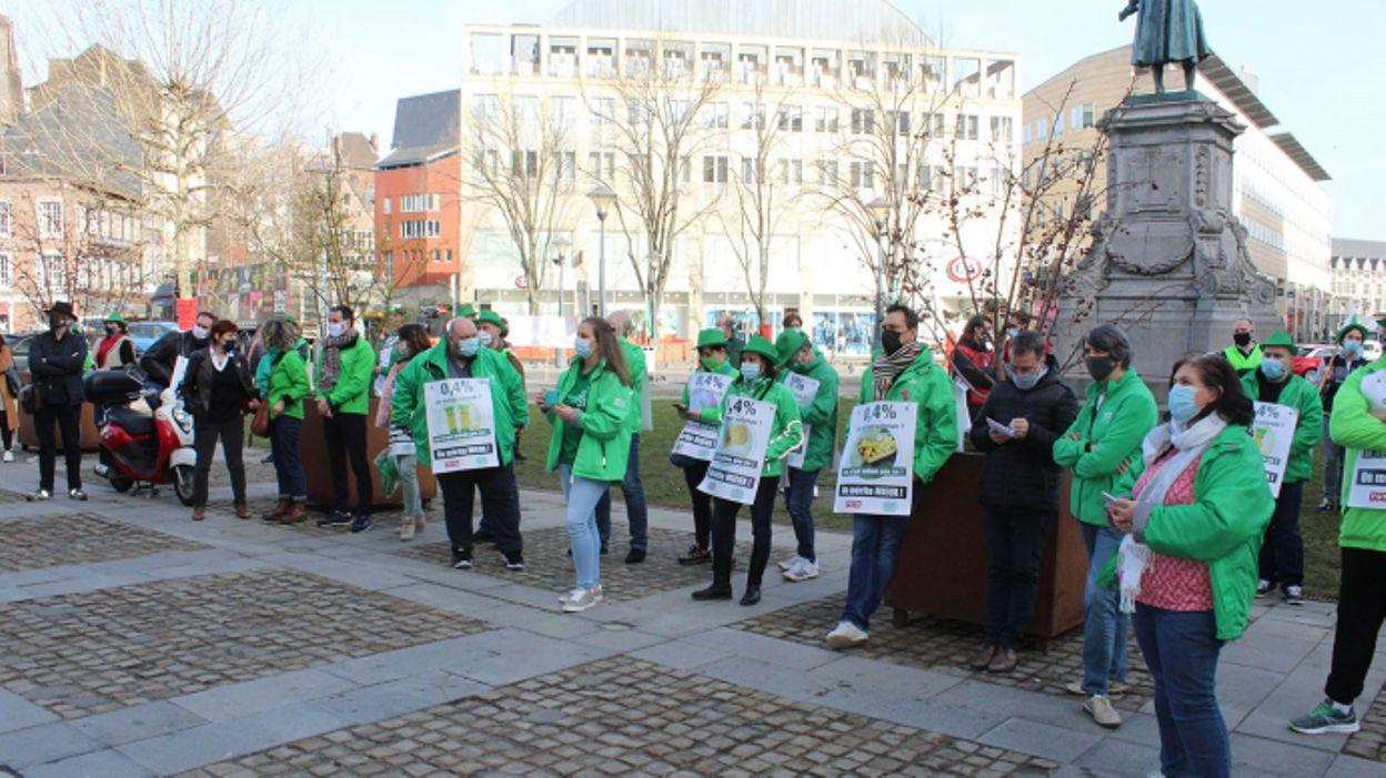 15h09 Manifestations syndicales en région liégeoise et verviétoise - RTBF