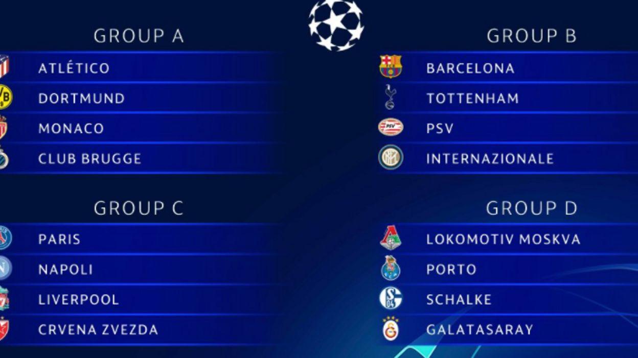 Tirage Au Sort Ligue Des Champions Twitter: Le Club De Bruges Contre L'Atlético De Madrid, Dortmund Et