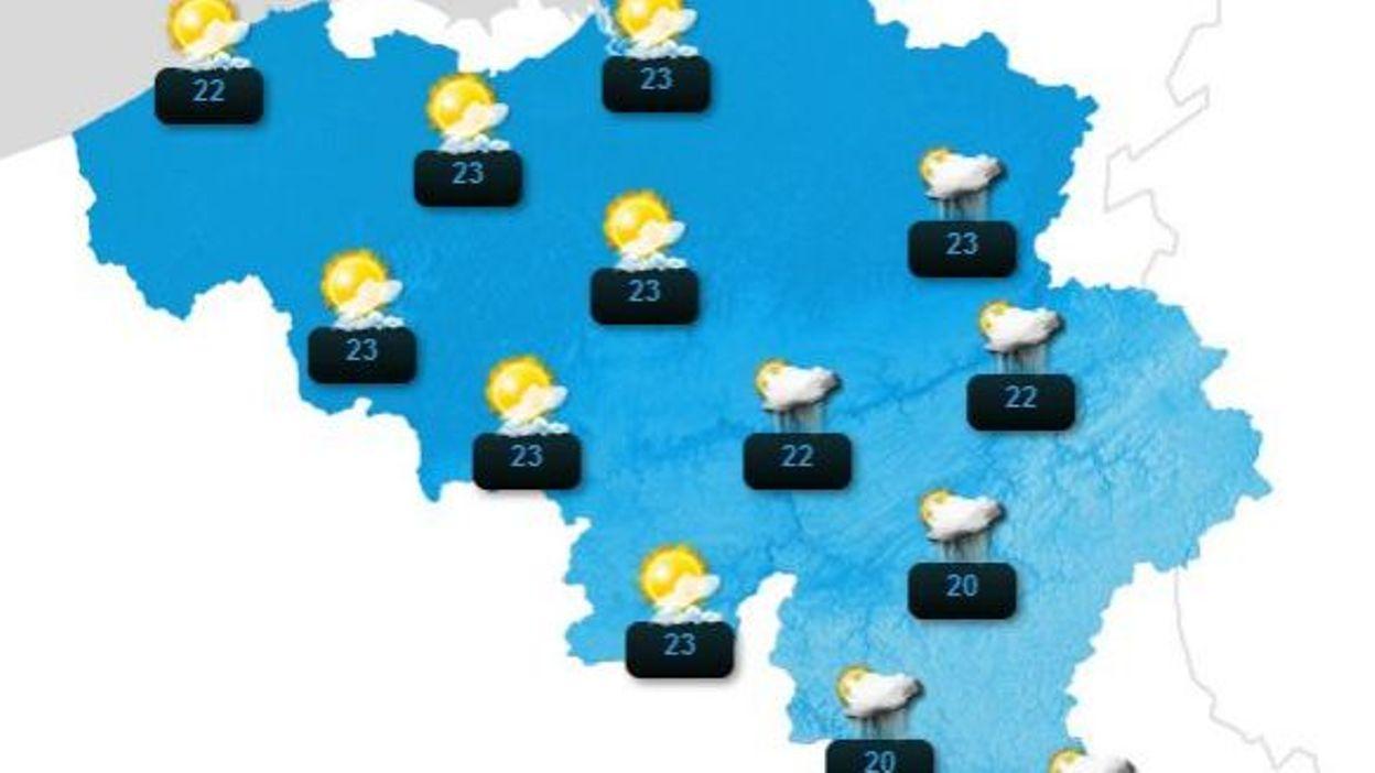 La belgique travers e par une vague de chaleur soleil - Jeudi de l ascension 2015 ...