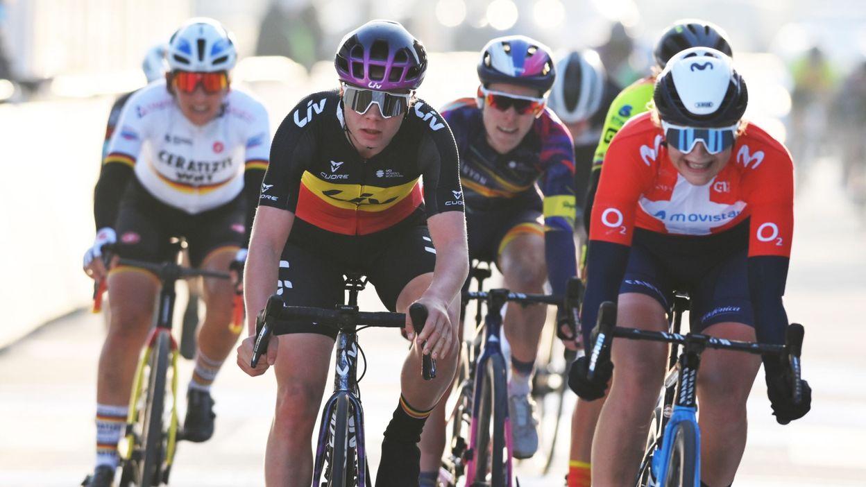 06h27 GP Samyn Dames : victoire de la championne de Belgique Lotte Kopecky - RTBF