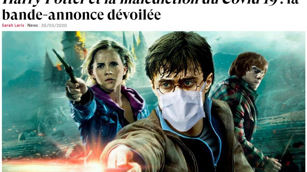"""Découvrez la bande-annonce de """"Harry Potter et la malédiction du Covid 19"""""""