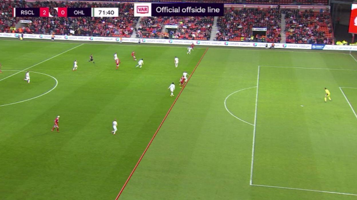 Sept minutes pour annuler un but au Standard : débuts laborieux pour la ligne hors-jeu 3D en Pro League