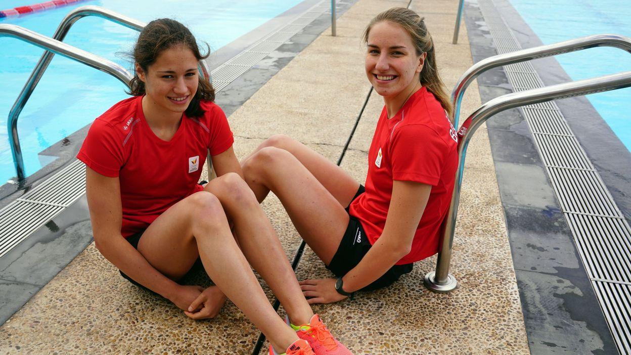 Valentine et Juliette Dumont, deux grands espoirs de la natation belge
