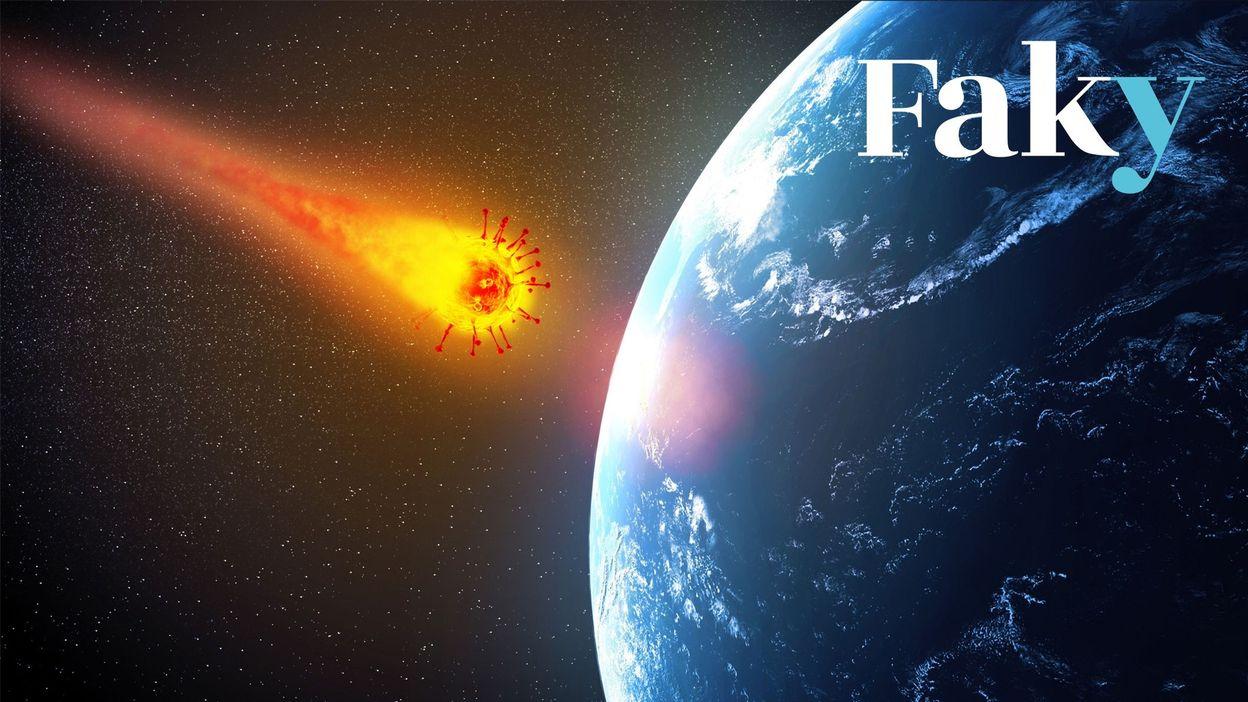 Le risque d'être frappé par un astéroïde est-il vraiment plus important que celui de mourir du coronavirus ? - RTBF