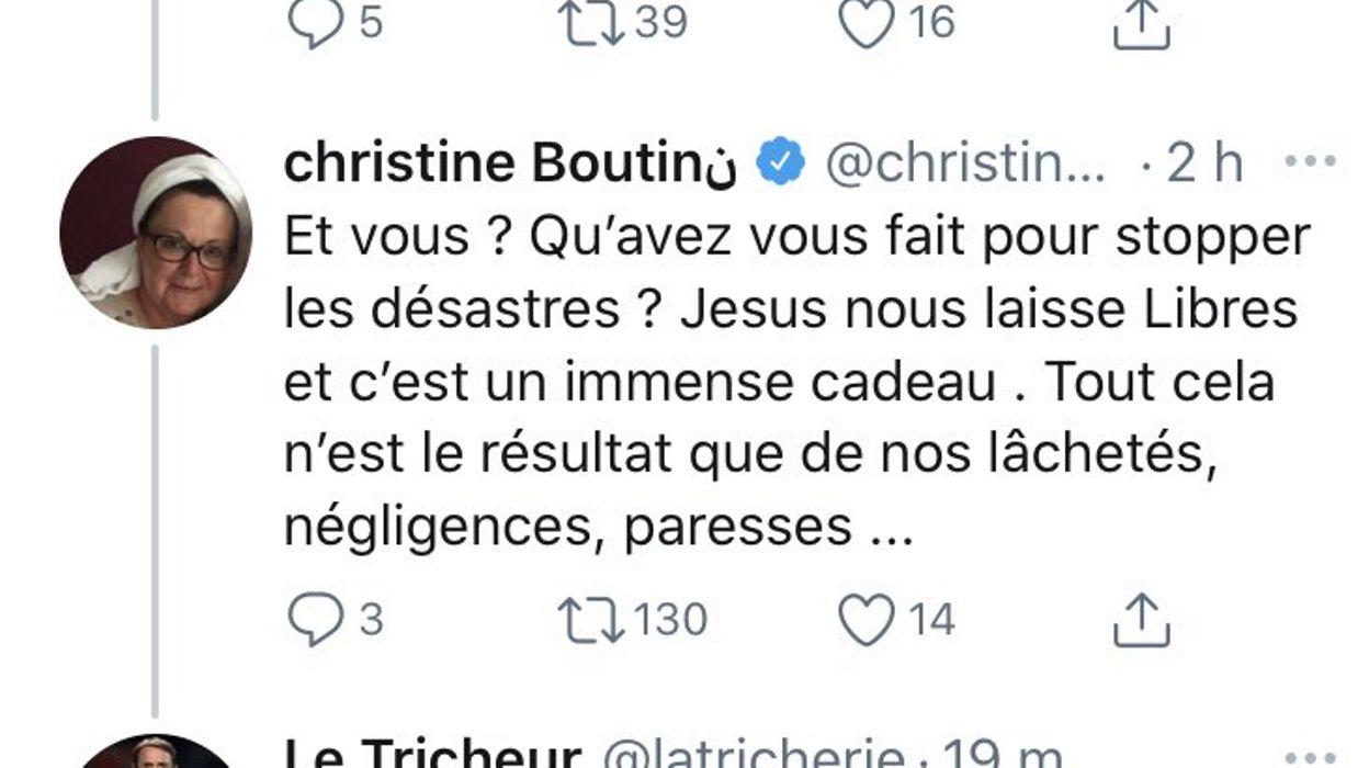 Christine Boutin se ridiculise sur Twitter en confondant Gabriel Jesus et… Jésus Christ - RTBF