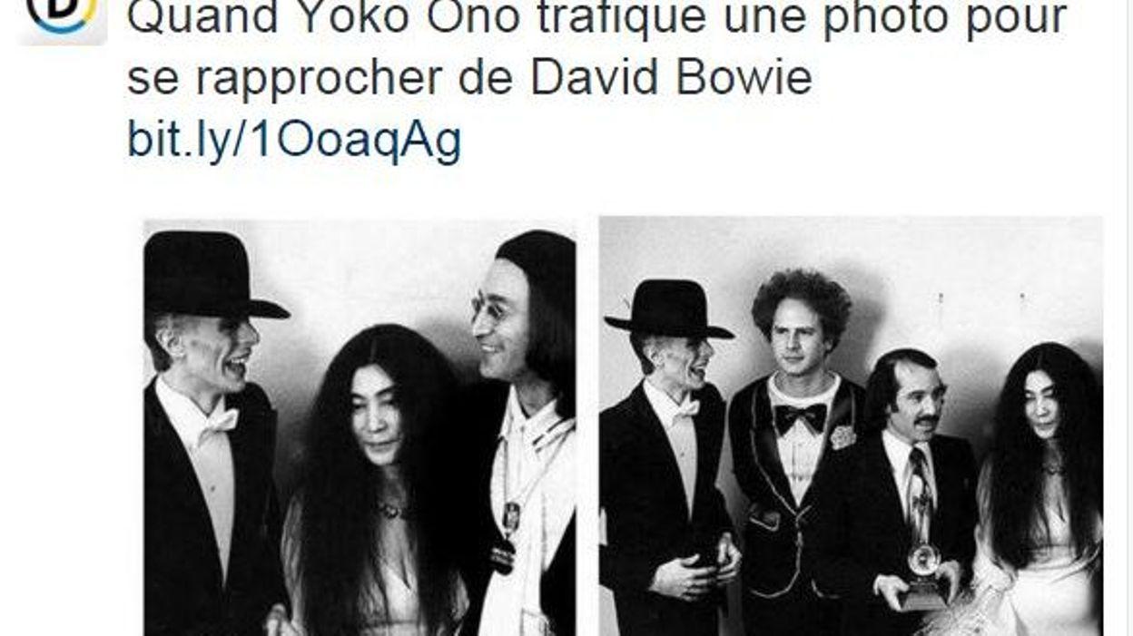Trucage Pour Rendre Hommage A Bowie Yoko Ono Supprime Simon Et Garfunkel