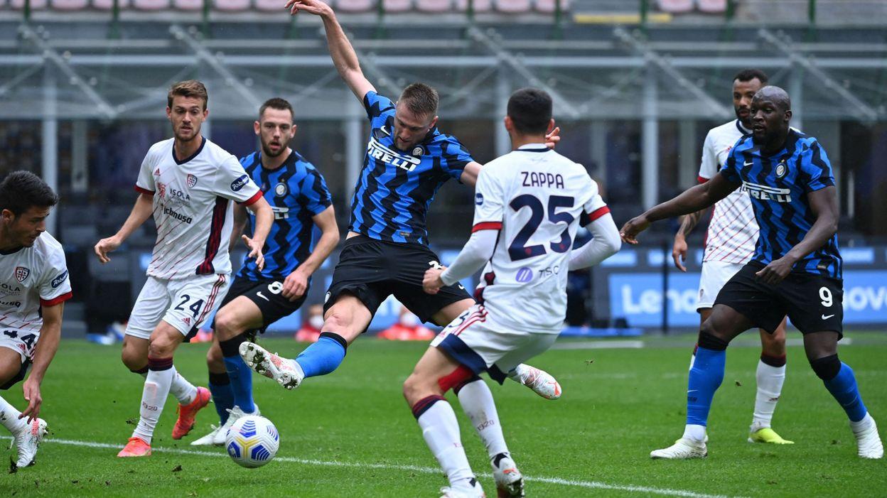 Victoire sur le fil de l'Inter Milan face à Cagliari, Lukaku impliqué sur le but libérateur