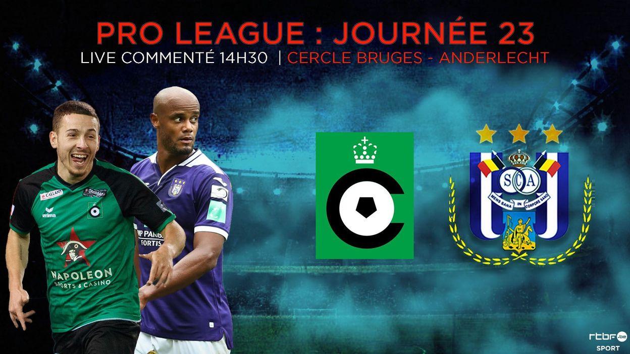 Anderlecht réalise le hold-up au Cercle de Bruges