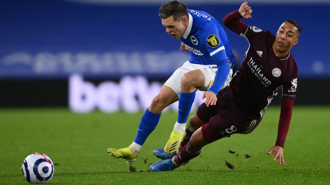 Premier League : Leicester écarte Brighton, magnifique assist de Tielemans - RTBF