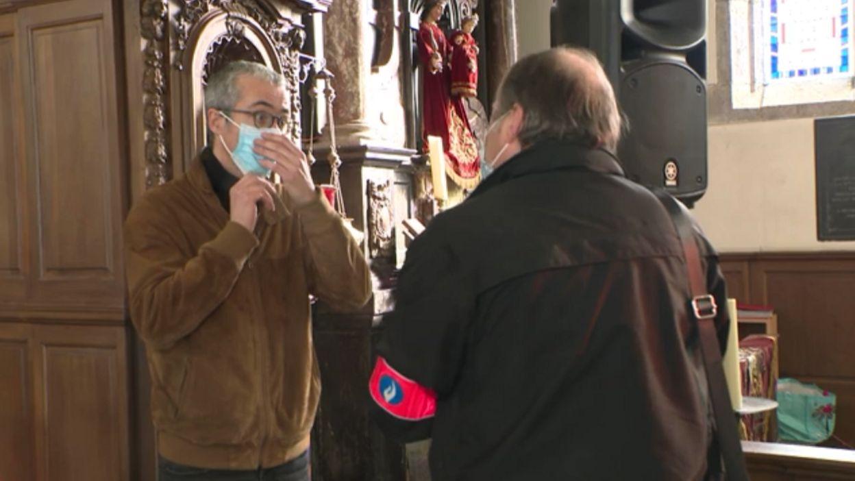 Info Coronavirus : un concert dans une église interrompu par la police à Crupet - RTBF