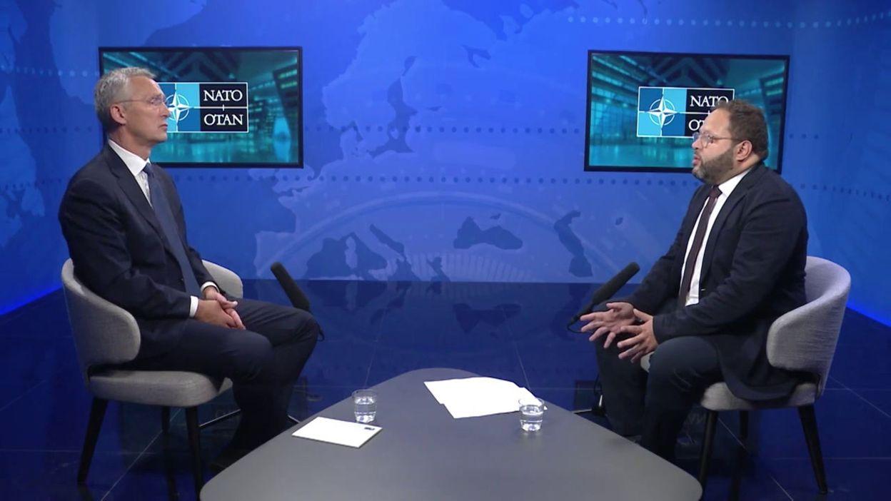 """11 septembre 2001: """"Une Défense européenne ne va que diviser l'Europe"""" déclare Jens Stoltenberg, le patron de l'OTAN, à la RTBF"""