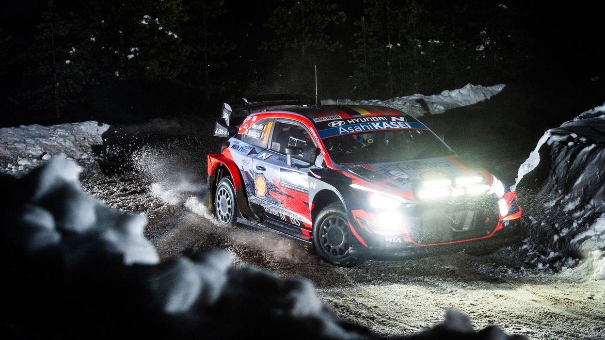 WRC Arctic : Tanak enfonce le clou, un brillant Neuville tout proche de la 2e place, Ogier se loupe - RTBF