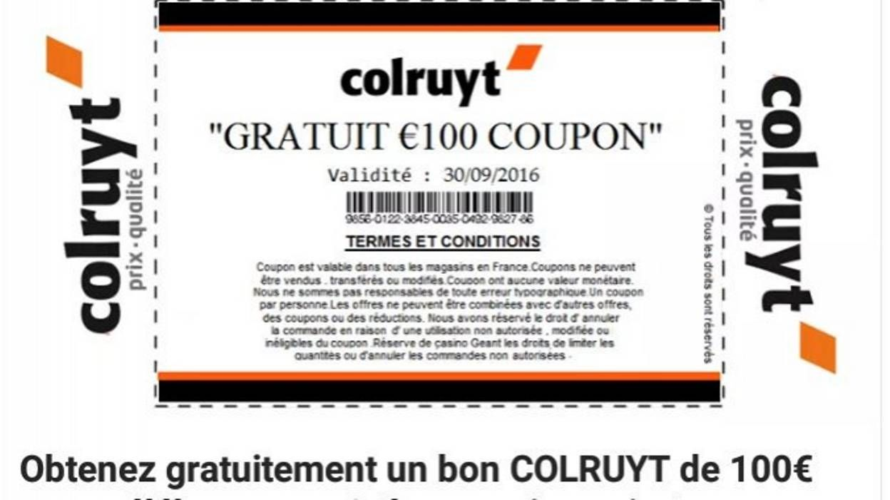 Internet des faux bons d 39 achat colruyt sur twitter for Bon d achat id garage