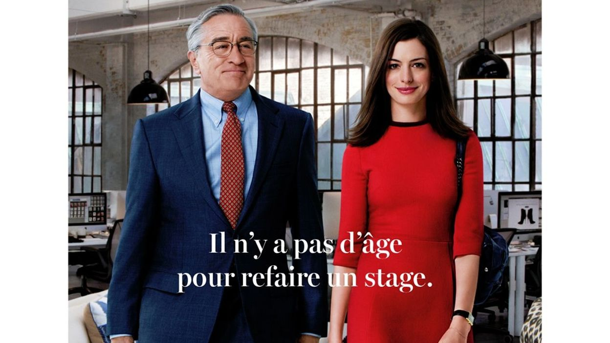 robert de niro aux ordres d 39 anne hathaway dans le nouveau stagiaire. Black Bedroom Furniture Sets. Home Design Ideas