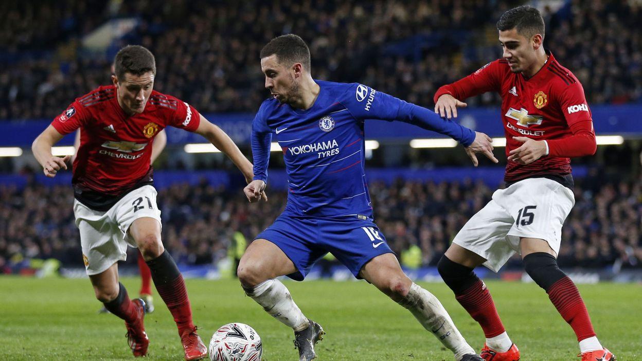 b5b0c1e2 Manchester United, avec Lukaku, élimine Chelsea et Hazard en Cup
