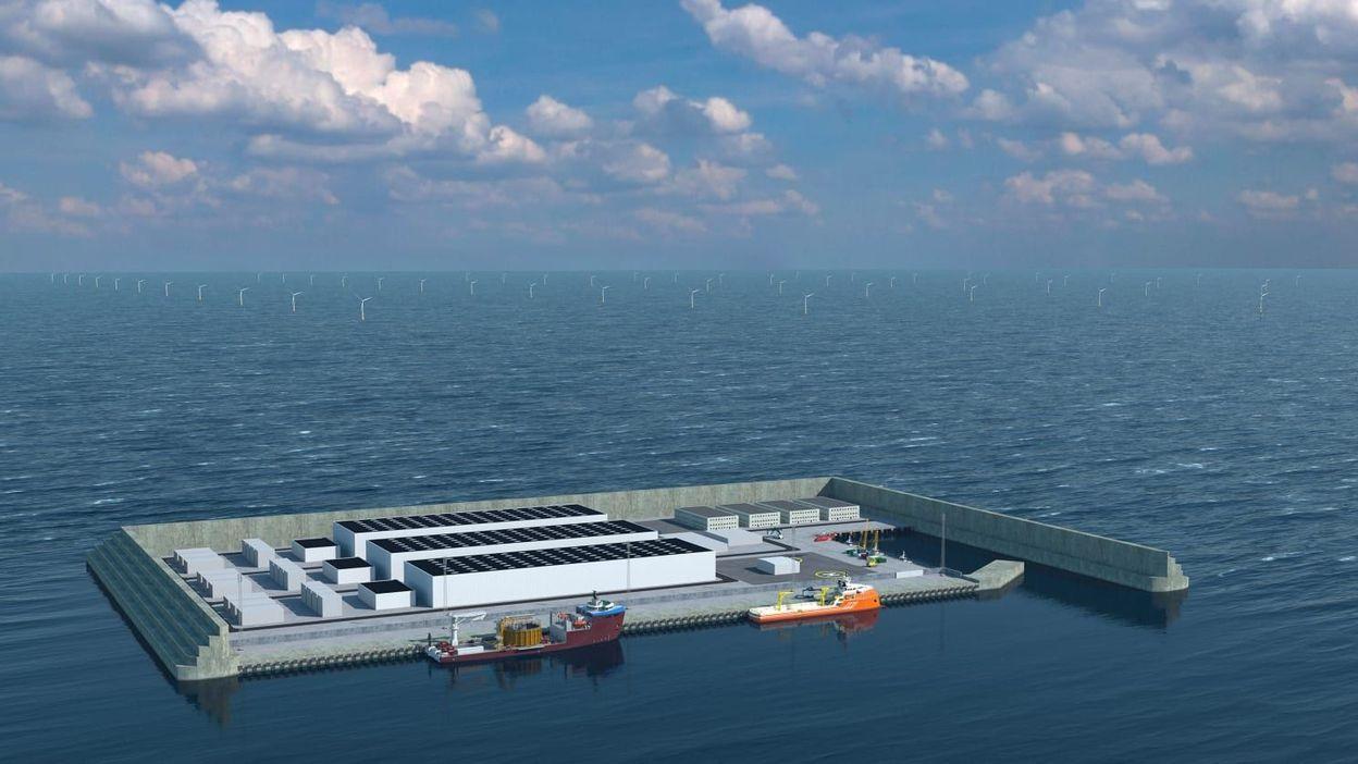 Cette île artificielle au large du Danemark va pouvoir fournir en électricité des millions de foyers européensE - RTBF